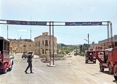 Photograph - Welcome To Bethlehem 1967 by Munir Alawi