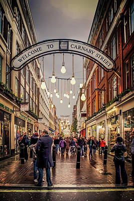 Welcome To Carnaby Street London Art Print by Alex Saunders