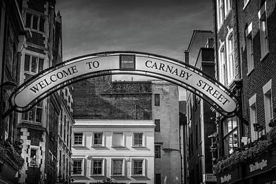 Photograph - Welcome To Carnaby Street London by Georgia Fowler