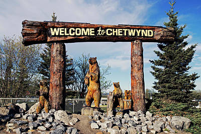 Welcome To Chetwynd Art Print by Robert Braley
