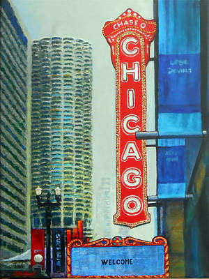 Fog Painting - Welcome To Chicago by Michael Durst
