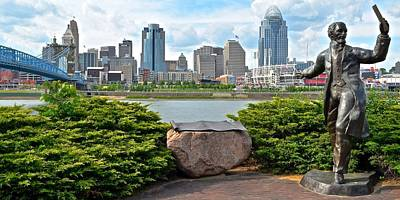 Photograph - Welcome To Cincinnati by Frozen in Time Fine Art Photography