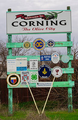 Photograph - Welcome To Corning by Tikvah's Hope
