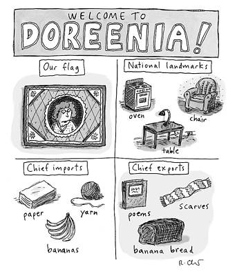 Flag Drawing - Welcome To Doreenia by Roz Chast