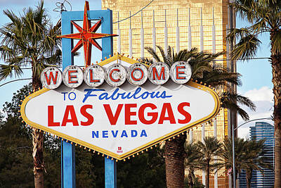 Photograph - Welcome To Fabulous Las Vegas Sign by Tatiana Travelways