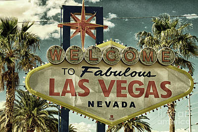 Photograph - Welcome To Fabulous Las Vegas by Toula Mavridou-Messer