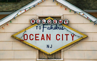 Photograph - Welcome To Fabulous Ocean City N J by Allen Beatty