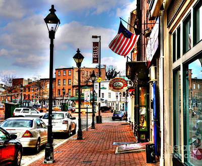 Welcome To Fells Point Print by Debbi Granruth