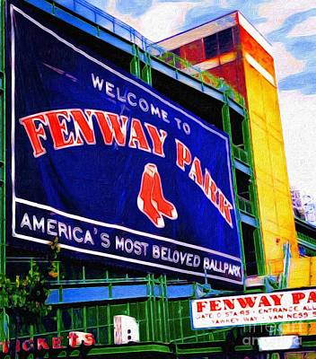 Welcome To Fenway Park Art Print