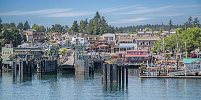 Welcome To Friday Harbor San Juan Island Art Print