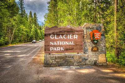 Welcome To Glacier National Park Art Print
