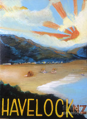 Painting - Welcome To Havelock New Zealand by Michelle Deyna-Hayward