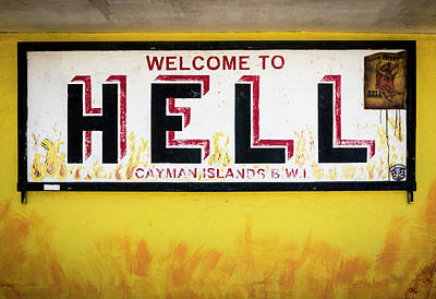 Photograph - Welcome To Hell, Grand Cayman Island by Adam Romanowicz