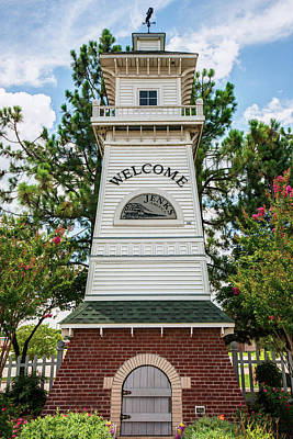 Photograph - Welcome To Jenks Oklahoma Lighthouse by Gregory Ballos