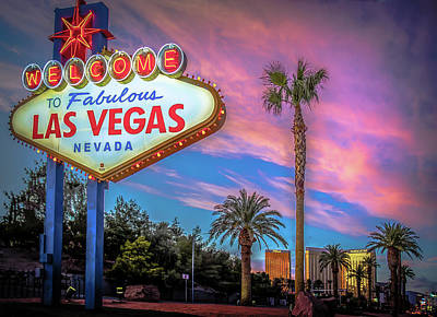 Photograph - Welcome To Las Vegas by Mark Dunton