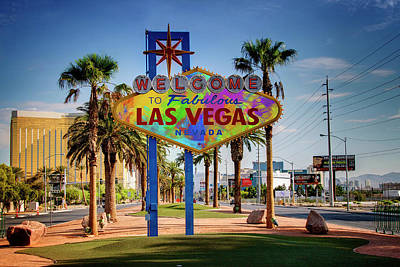 Photograph - Welcome To Las Vegas Sign Paint II by Ricky Barnard