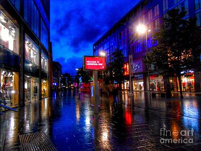 Photograph - Welcome To Liverpool One by Joan-Violet Stretch