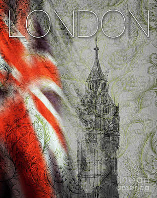 Digital Art - Welcome To London by Edmund Nagele