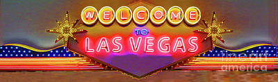 Photograph - Welcome To Lv by Steven Parker