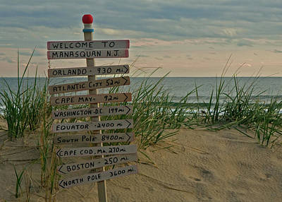 Welcome To Manasquan Art Print by Robert Pilkington