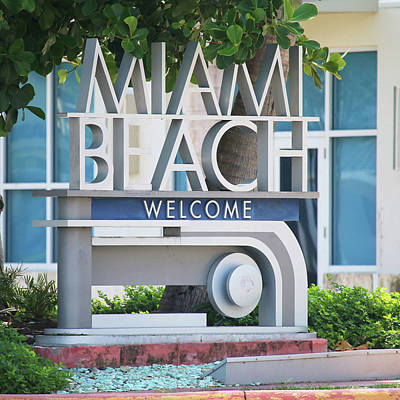 Photograph - Welcome To Miami Beach by Art Block Collections