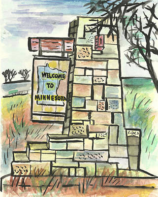 Painting - Welcome To Minnesota by Matt Gaudian