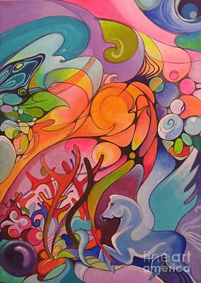 Sense Of Movement Painting - Welcome To My Fantasies by Raymond Frans