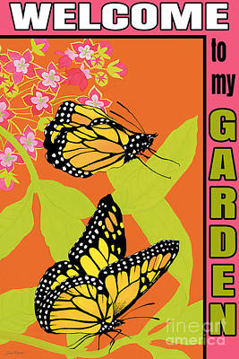 Butterfly Painting - Welcome To My Garden-jp2828 by Jean Plout