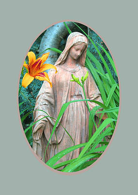Peace Be With You - Images From The Garden Art Print