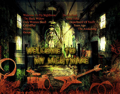 Digital Art - Welcome To My Nightmare by Michael Damiani
