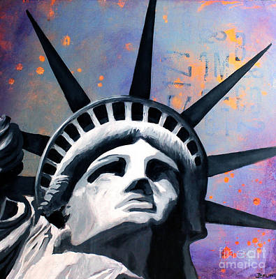 Lady Justice Painting - Welcome To New York 1 by Debbie Joplin