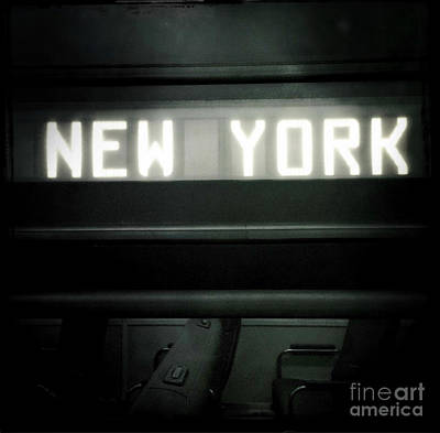 Photograph - Welcome To New York by Miriam Danar