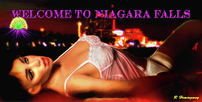 Bras Photograph - Welcome To Niagara Falls by Richard Hemingway