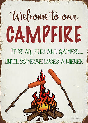 Digital Art - Welcome To Our Campfire 1 by Jean Plout