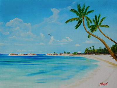 Painting - Welcome To Paradise by Lloyd Dobson