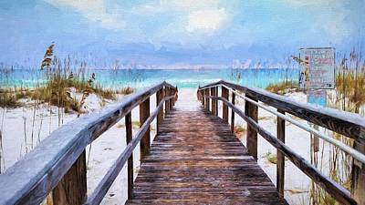 Photograph - Welcome To Pensacola Beach by JC Findley