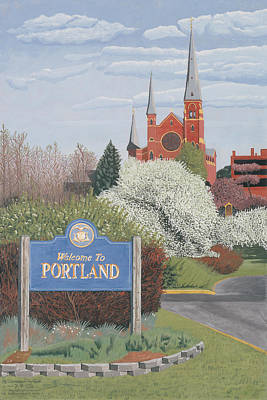 Painting - Welcome To Portland by Dominic White