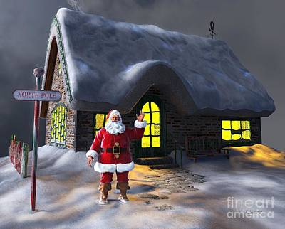 Digital Art - Welcome To Santa's Cottage by Dave Luebbert