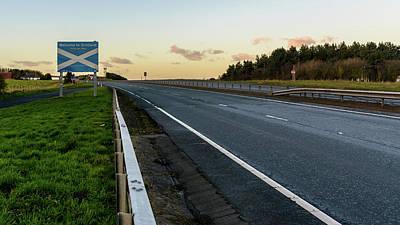 Photograph - Welcome To Scotland Road Sign A by Jacek Wojnarowski