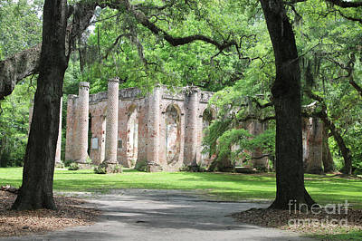 Civil War Site Photograph - Welcome To Sheldon Church Ruins by Carol Groenen