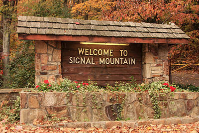 Photograph - Welcome To Signal Mountain Fall by Tom and Pat Cory