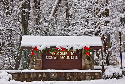 Photograph - Welcome To Signal Mountain by Tom and Pat Cory