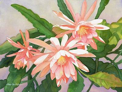 Welcome To Spring - Epiphyllum Watercolor Original