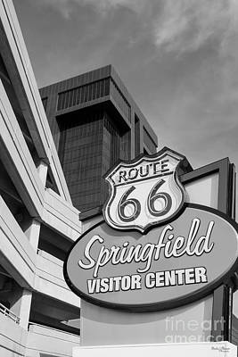Photograph - Welcome To Springfield Grayscale by Jennifer White