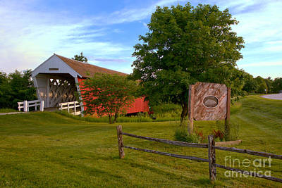 Photograph - Welcome To St Charles Iowa by Adam Jewell
