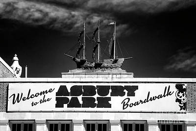Photograph - Welcome To The Asbury Park Boardwalk by John Rizzuto