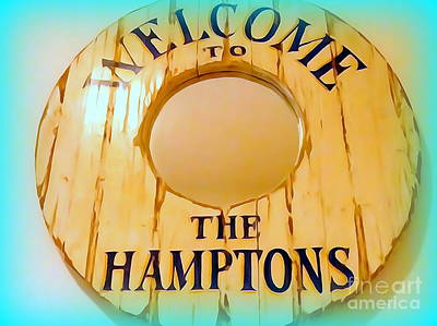 Photograph - Welcome To The Hamptons by Ed Weidman
