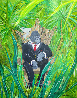 Painting - Welcome To The Jungle by Joseph Palotas