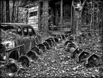 Photograph - Welcome To The Junkyard by Walt Foegelle