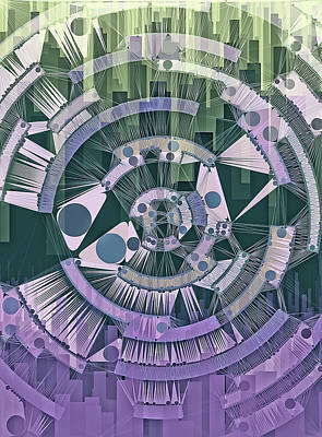 Dots And Lines Digital Art - Welcome To The Machine by Susan Maxwell Schmidt
